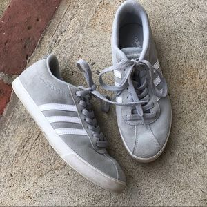 Adidas gray courtset sneakers size 7.5
